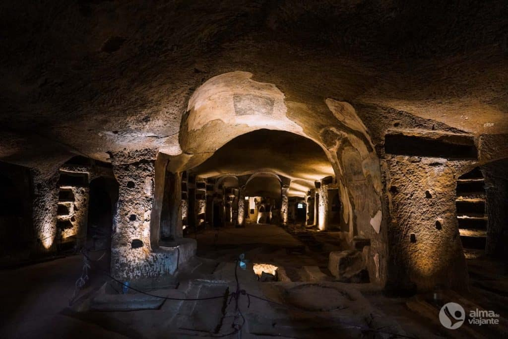 Neapoles San Gennaro katakombas