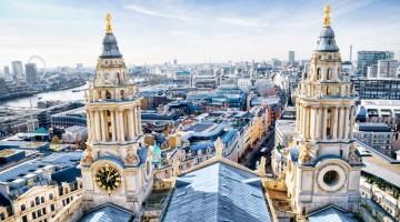 Mið-London útsýni yfir St Paul's Cathedral