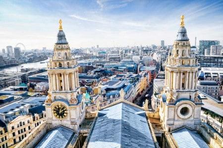 Central London vista da Catedral de São Paulo