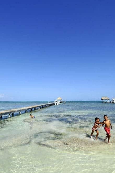 Brincadeiras de criança no Mar das Caraíbas