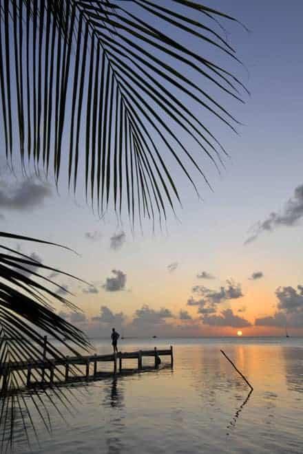 Pôr-do-sol em Caye Caulker