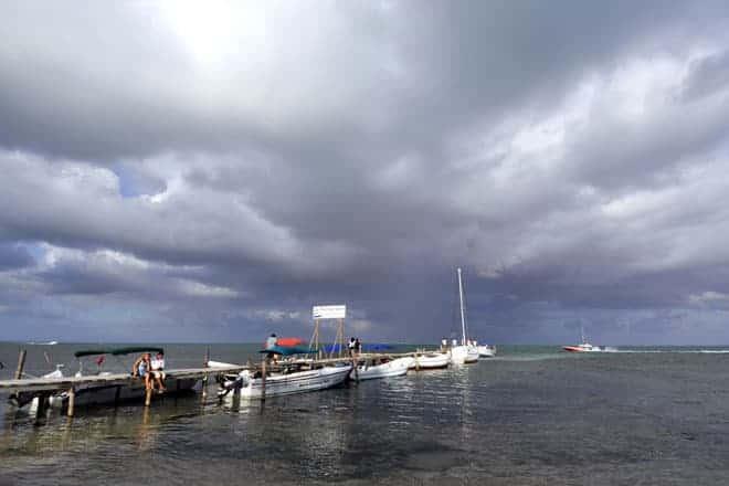 Minutos antes de uma tempestade tropical