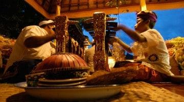 Ceremonier i Ubud, Bali
