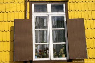 Pormenor de uma fachada em Chiloé