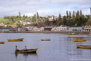 Vista de Chonchi, ilha de Chiloé
