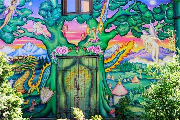 Mural à entrada de Christiania, Copenhaga