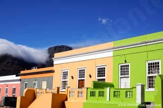 Pormenor de Bo-Kaap, um dos bairros mais bem preservados da Cidade do Cabo, África do Sul