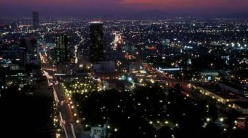 Vista noturna da Cidade do México