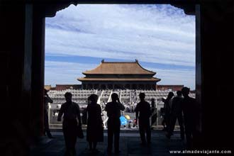 Turistas fotografando a Cidade Proibida
