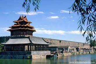 Vista a partir do parque Zhongshan, Pequim