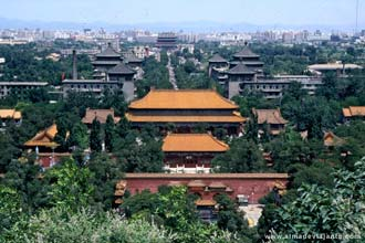 Complexo da Cidade Proibida vista da colina do parque Jingshan