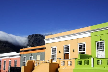 Pormenor de Bo-Kaap, um dos bairros mais bem preservados da Cidade do Cabo