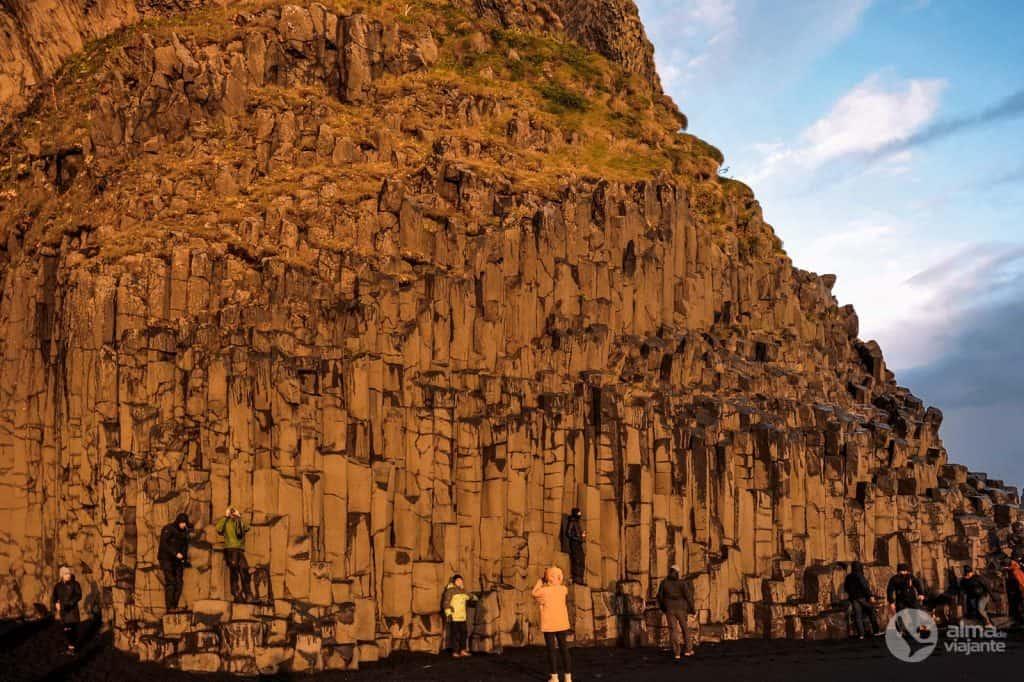 Colunas de basalto da praia Reynisfjara
