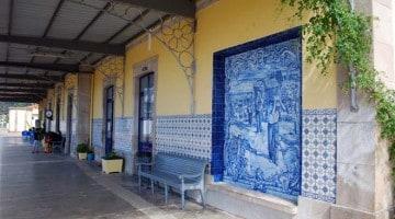 Železničná stanica v Portugalsku