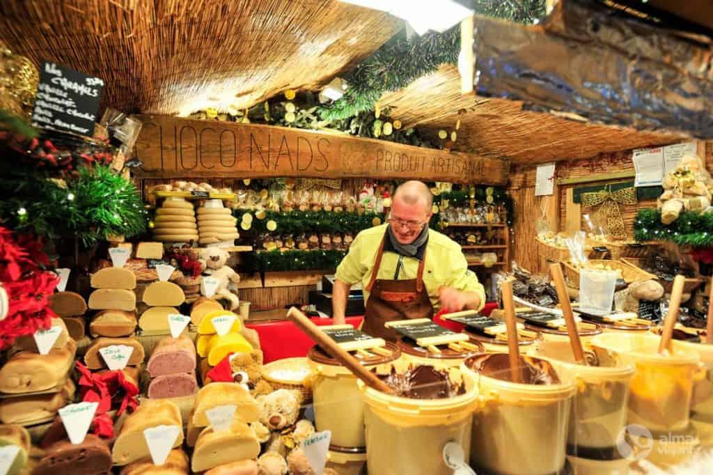Vendedor de queijo em Bruxelas