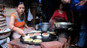 Cozinhar woh, a pizza nepalesa
