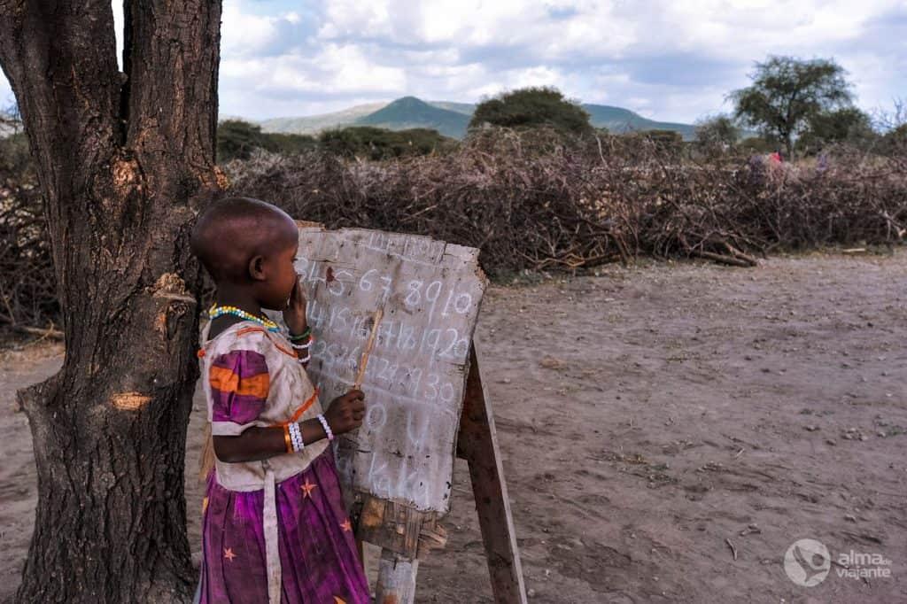 Visita el poble de Maasai, Tanzània