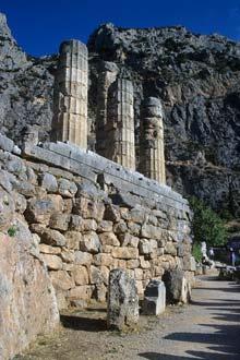 Parede lateral do templo principal, Delfos