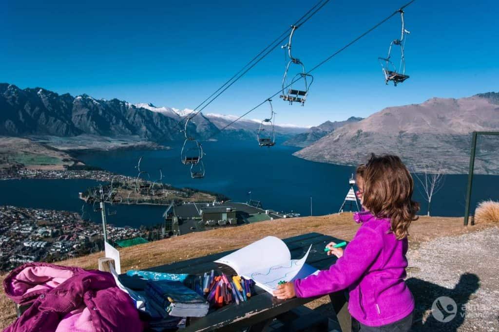 Kvīnstauna, Wakatipu ezers un The Remarkables kalni