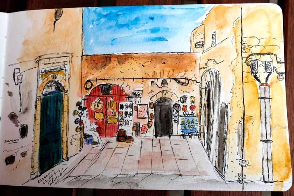 Sketch da Medina de Essaouira