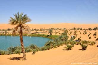 Lago Gabr-Aun, deserto do Sahara