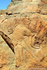 Figuras rupestres em Wadi Mathkendoush