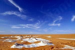 Gesso no deserto do Sahara, Sul da Líbia