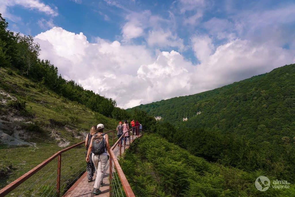 Caminhada Okatse, Geórgia