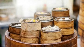Dim sum de porco, saborosos dumplings oriundos da China