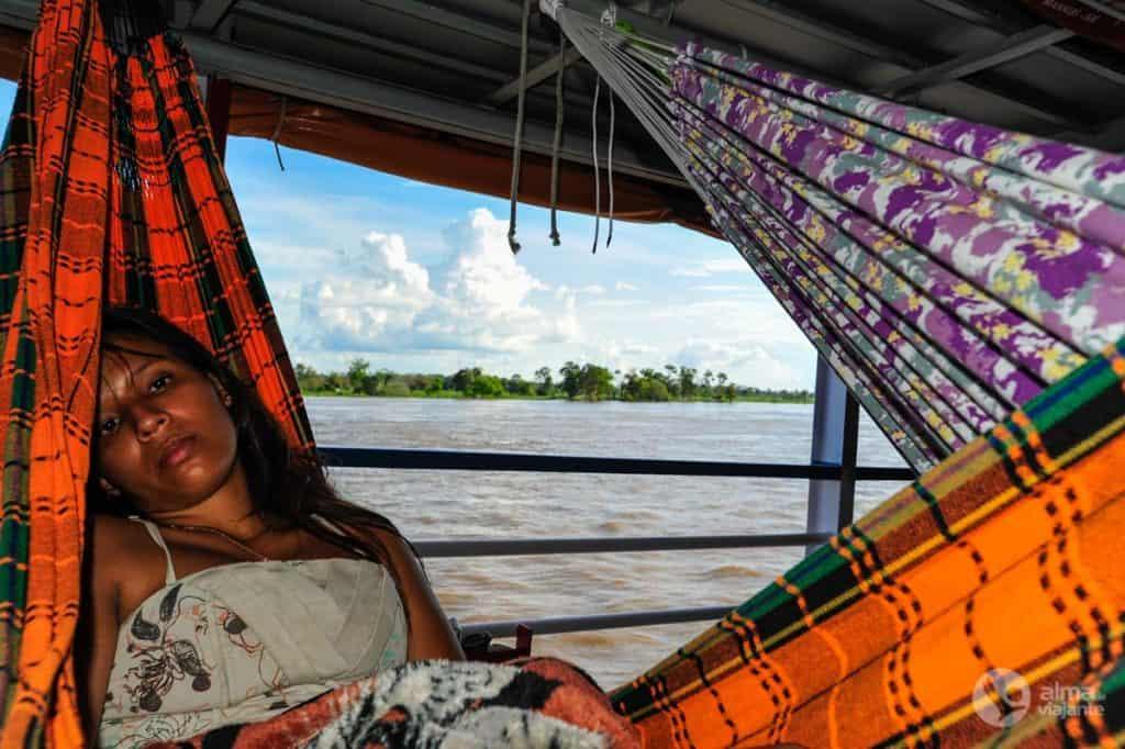 Reizen in een netwerk in Amazonas