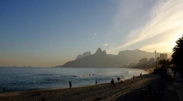 Entardecer na praia de Ipanema, Rio de Janeiro