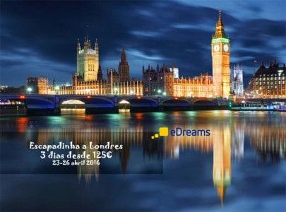 Escapadinha de 3 dias a Londres - promoção eDreams