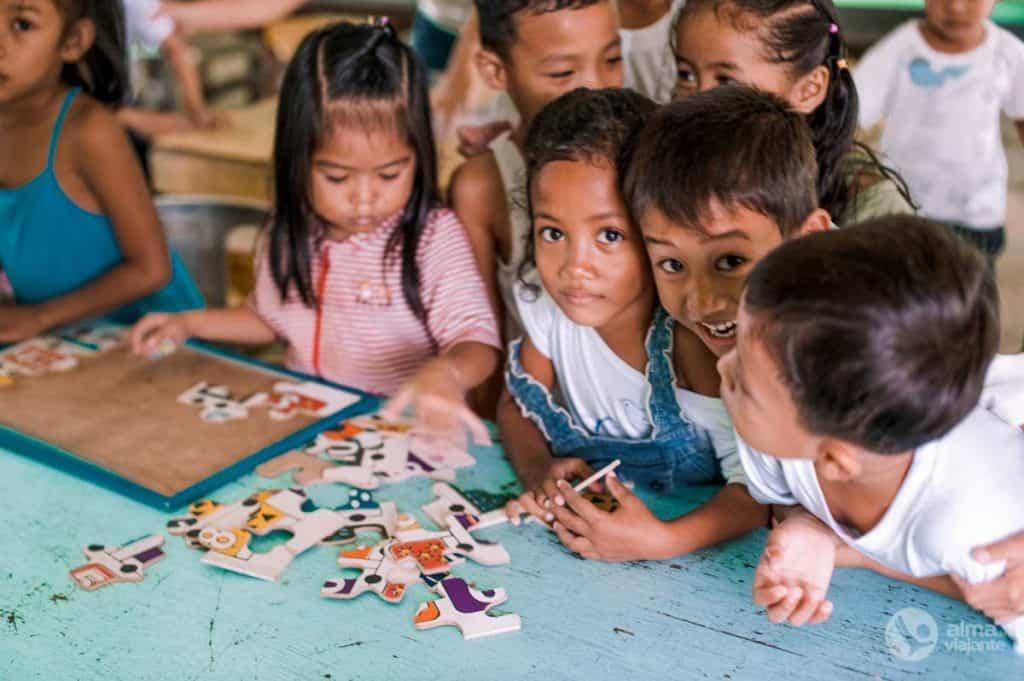 Jardim-escola em El Nido