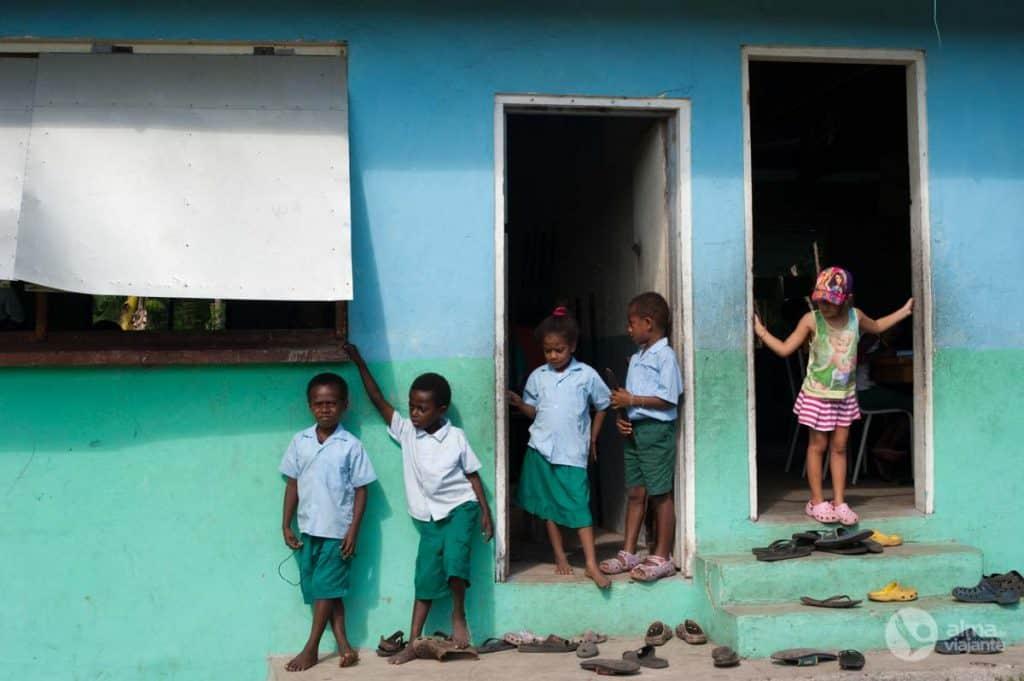 Escola Primária Amaro, ilha Lelepa