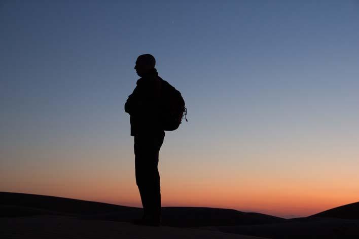 Filipe Morato Gomes no deserto