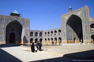 Masjed-é Emam, a mesquita do imã, na praça Eman Khomeini em Esfaão, Irão