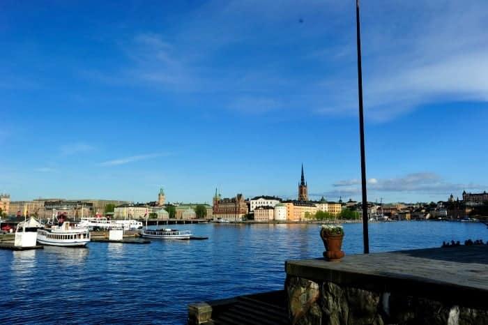 Vista do centro de Estocolmo