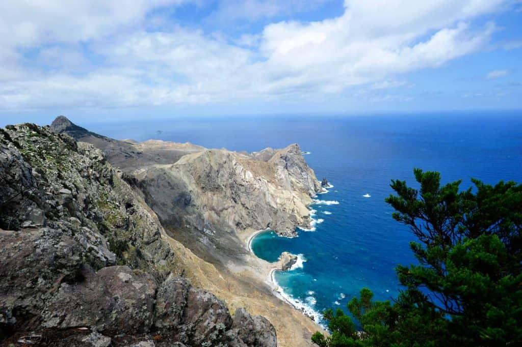 Az öböl Porto Santo sziget északkeleti csúcsán