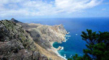 Enseadas na ponta nordeste da ilha de Porto Santo