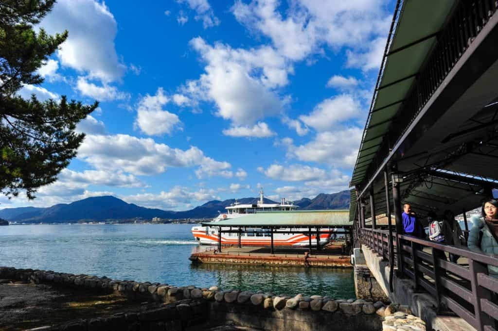Como chegar a Miyajima: ferry