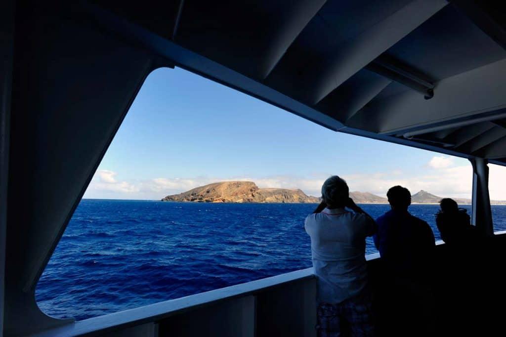 A chegada a Porto Santo a bordo do ferryboat da Porto Santo Line