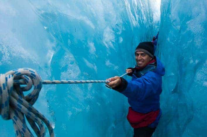 Viajar para ser feliz - Eu no glaciar Franz Josef