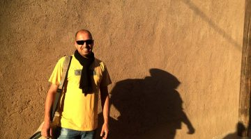 Filipe Morato Gomes visar i Yazd