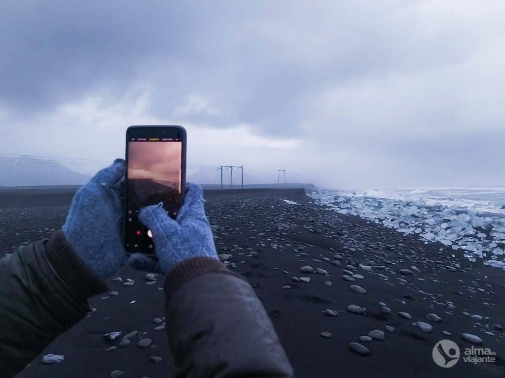 Fotografar com celular na Islândia