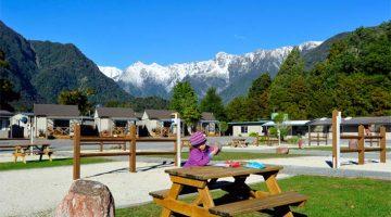 Millor parc per a muntanyes muntanyes a Nova Zelanda: Fox Glacier Holiday Park