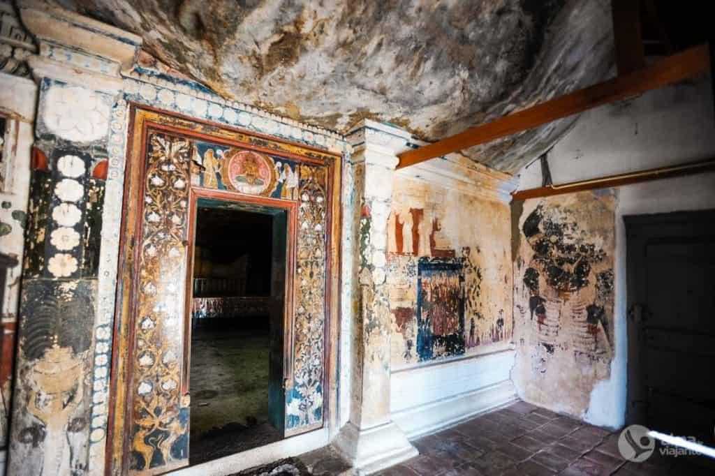 Frescos em Mulkirigala Sri Lanka