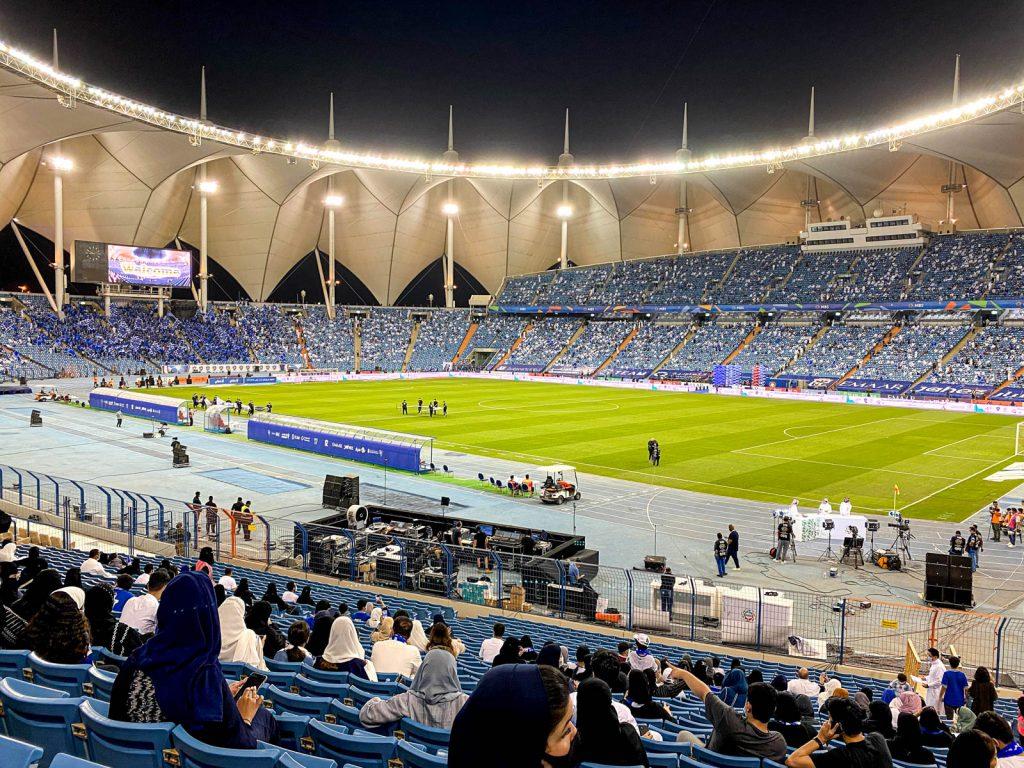 Estádio de futebol em Riade
