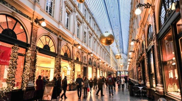 Galerias Saint-Hubert, centro de Bruxelas