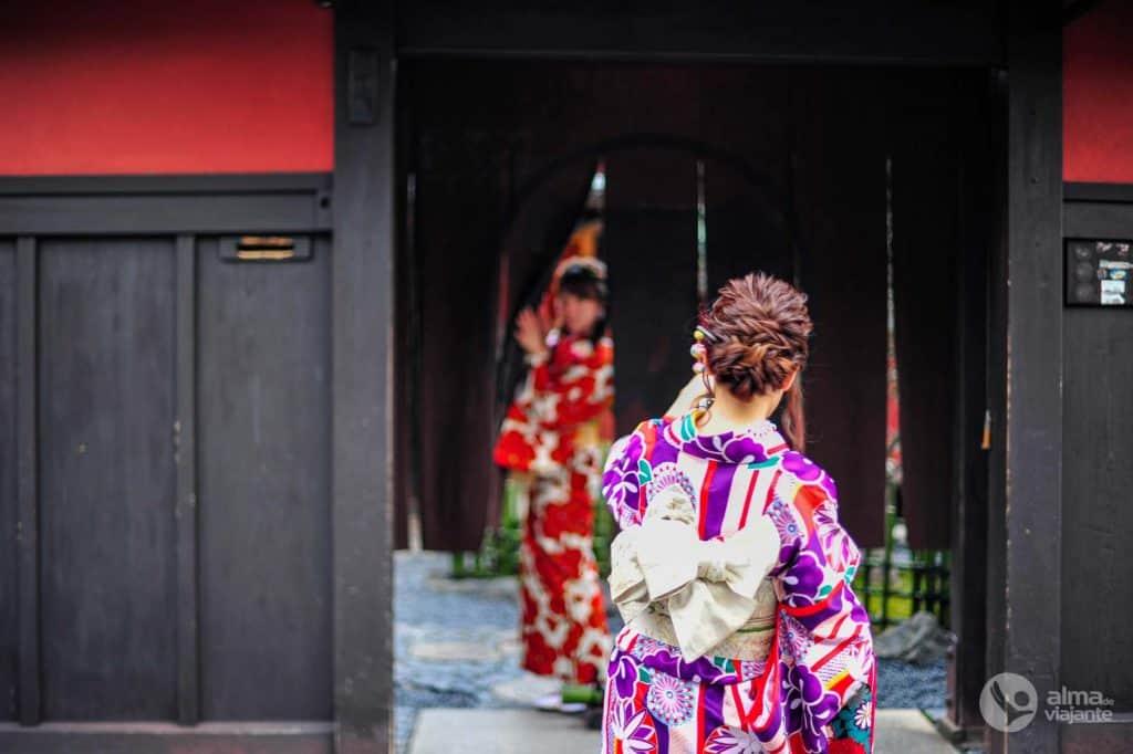 Kimonos em Gion