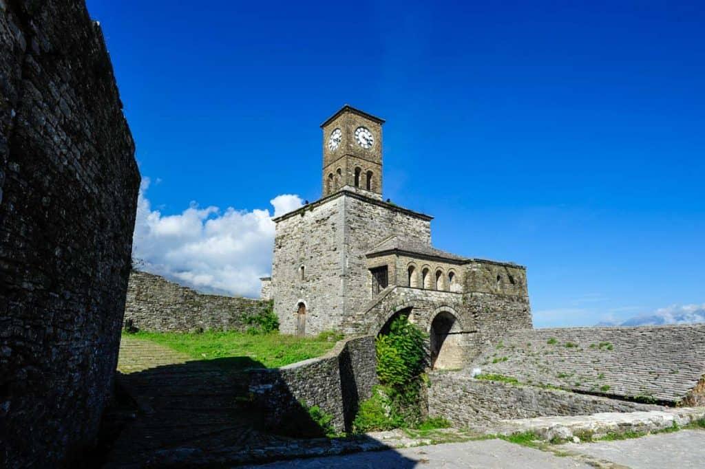 Torre do relógio no Castelo de Gjirokaster